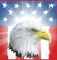 Patriotic american eagle and flag vector