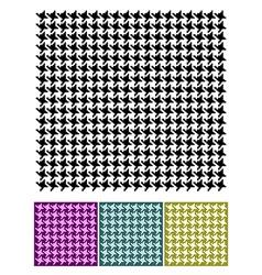 Pied-de-Poule textures vector