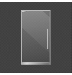 Realistic closed glass door exterior store vector