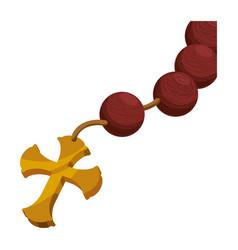 Rosary catholic faith vector