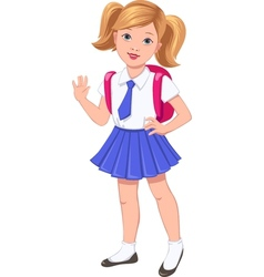 school girl vector image