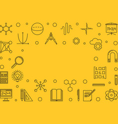 Science technology engineering and math yellow vector