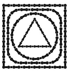 set bike chain frames vector image