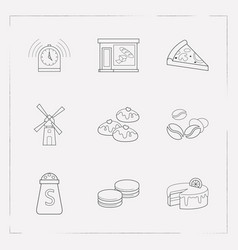 Set of dessert icons line style symbols with vector