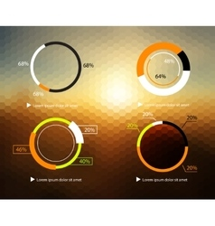 Set of diagrams charts for travel on trendy vector image