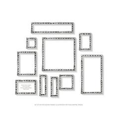 set of gold frames cinema vector image