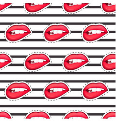 sexy female lip isolated character in cartoon vector image