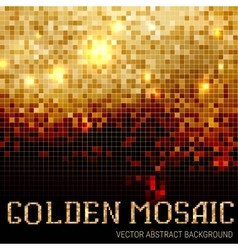Shining abstract dark mosaic background vector