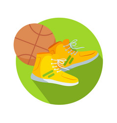 soccer boots and ball web button basketball vector image