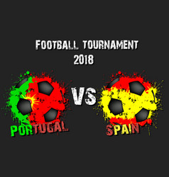 soccer game portugal vs spain vector image