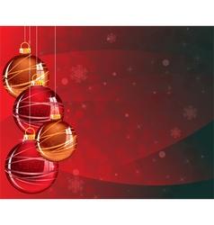 Sparkling Christmas balls vector