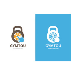 Sport and click logo combination gym and vector