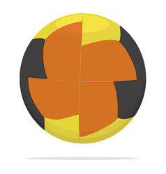 Sport ball icon game equipment concept vector