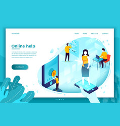 support manager fix client problems vector image