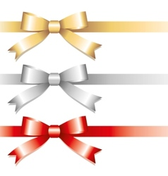 three bows vector image