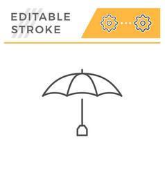 Umbrella editable stroke line icon vector