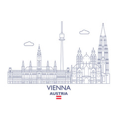 vienna city skyline vector image