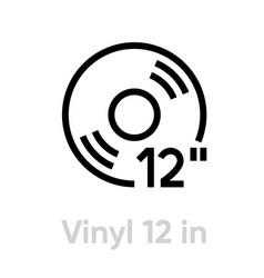 vinyl 12 inch icon vector image