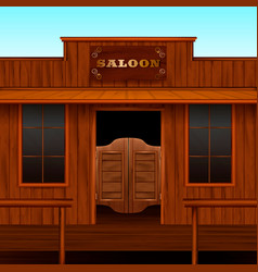 Western saloon entrance composition vector