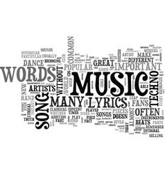 When are lyrics not important text word cloud vector