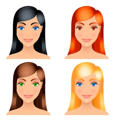 women hair colors vector image