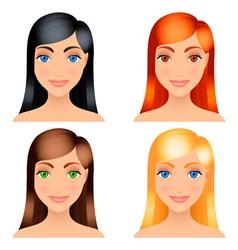 Women hair colors vector
