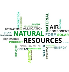 Word cloud natural resources vector