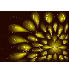 Abstract fractal resembling a flower on vector image vector image