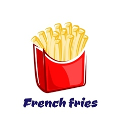 Cartoon french fries in red box vector image vector image