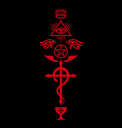 crux serpentines the serpent cross vector image vector image