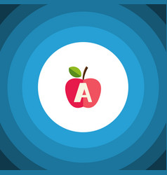 Isolated apple flat icon vitamin a element vector