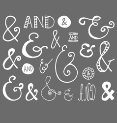 Ampersand Hand Drawn Doodle vector image