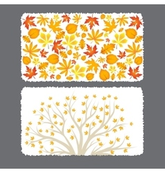 Autumn flyer template with leaves vector