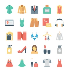 Fashion and Clothes Icons 5 vector image vector image