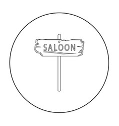 saloon icon outline singe western icon from the vector image vector image