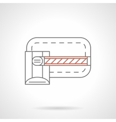 Gate barrier icon flat line icon vector image