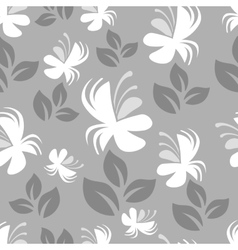 Gray floral pattern vector image vector image