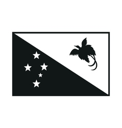 papua new guinea flag monochrome on white vector image vector image