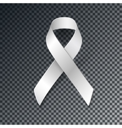 White Ribbon Alliance for Safe Motherhood vector image vector image