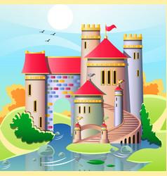 a cute castles vector image