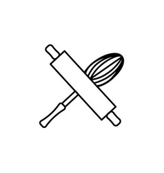 bakery tools icon vector image