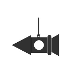 Black icon on white background toy rocket vector