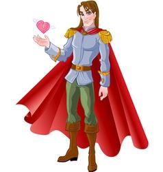 charming prince vector image