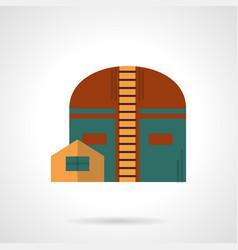 factory storage facility flat color icon vector image