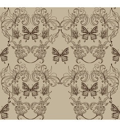 Floral vintage ornament vector image vector image