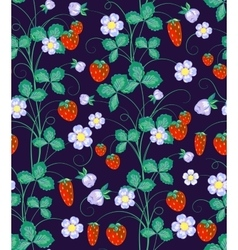 hand drawn seamless strawberry pattern vector image