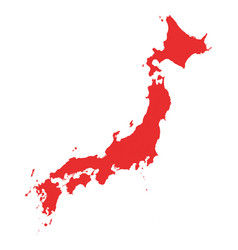 japan map on white background vector image vector image