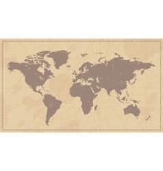 Old Vintage World Map vector image