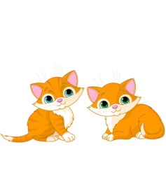 two very cute cats vector image