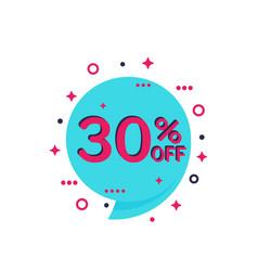30 off discount offer banner vector